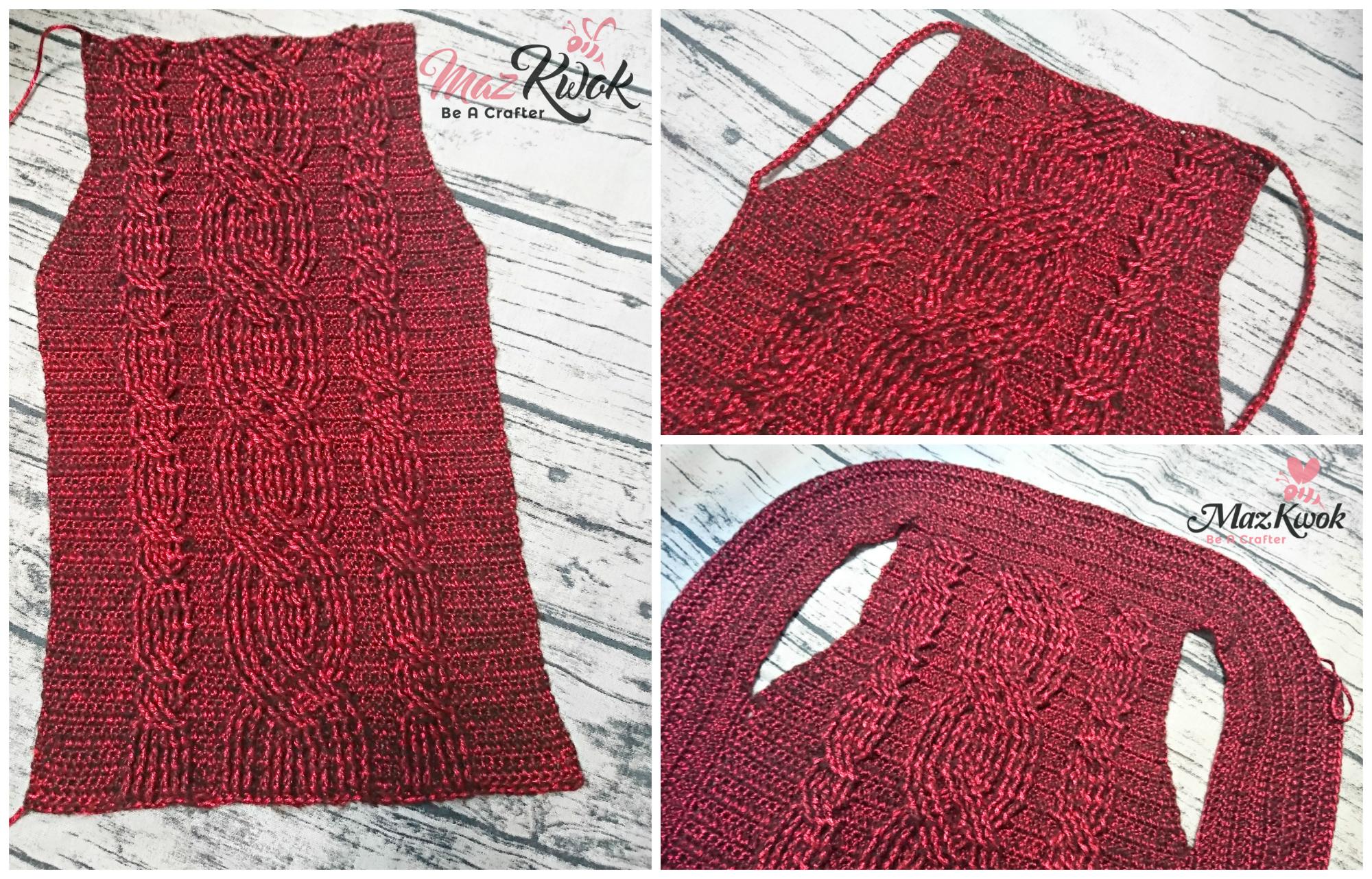 crochet cable vest