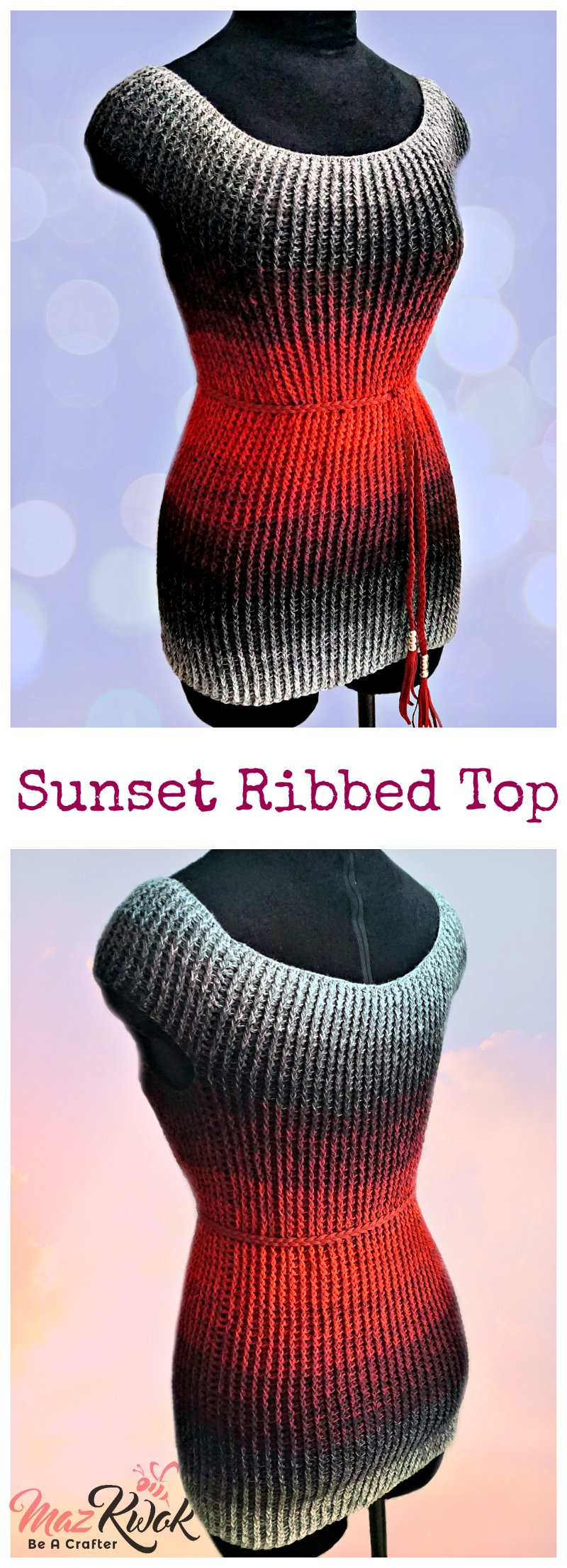 crochet ribbed top pattern