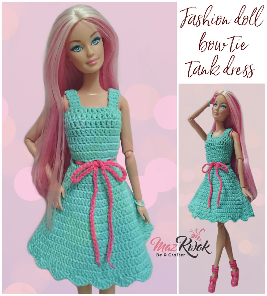 fashion doll tank dress