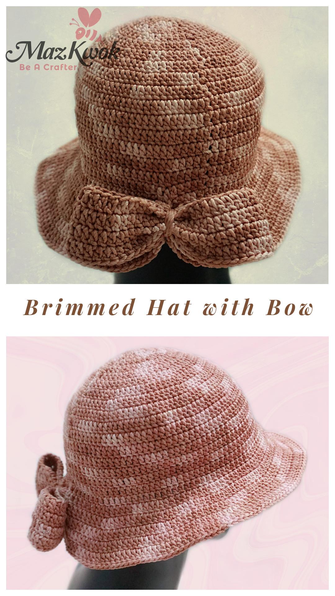 crochet bow hat