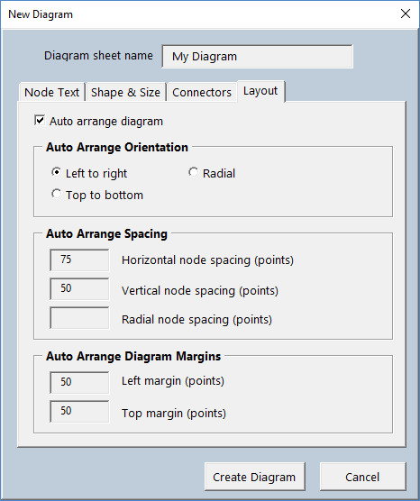 Diagram Master - New Diagram Layout