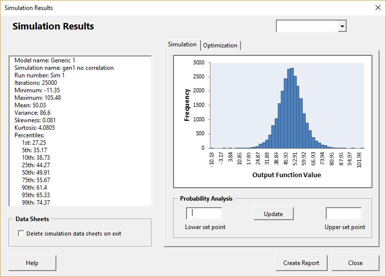Generic 1 simulation results