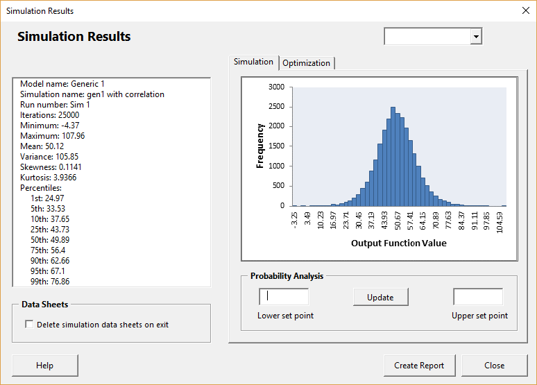 Generic 1 results with correlation