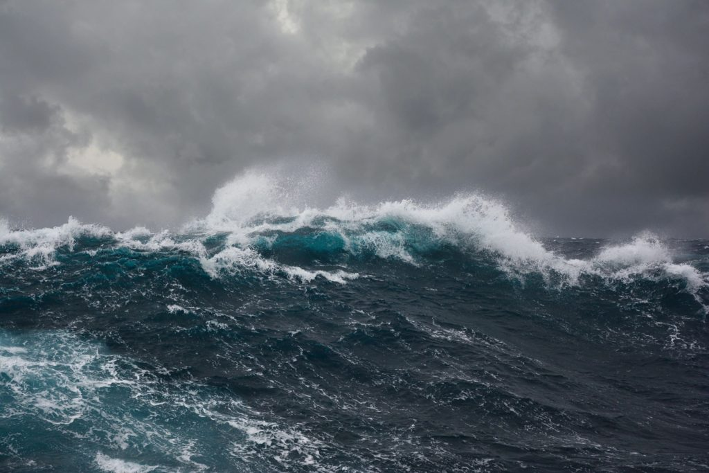 Meaning of risk - stormy seas