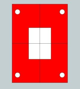 2 axis plate - part symmetry