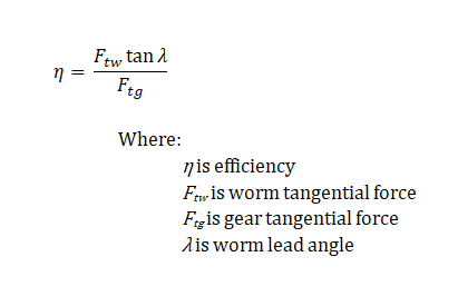 Efficiency equation