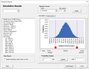 Monte Carlo simulation results