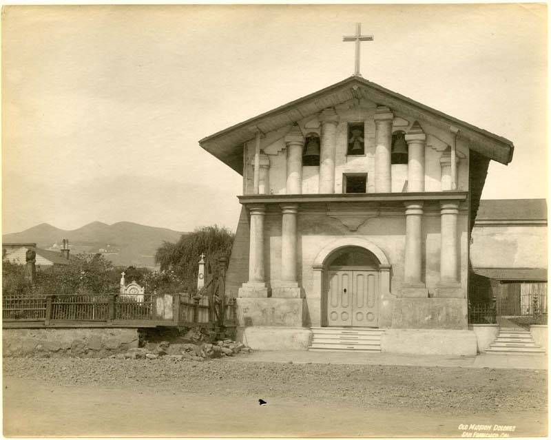 San Francisco's old Mission Dolores as it appeared in the late 19th century