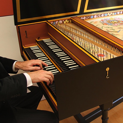 Jamason at harpsichord