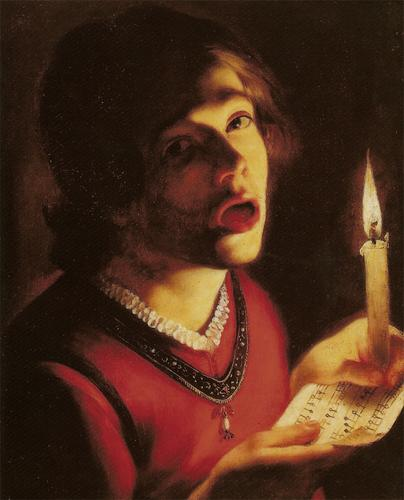 French-Baroque-Painter-Trophime-Bigot-Singer-with-a-Candle-Oil-Painting