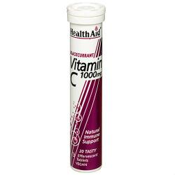 Healthaid Vitamin C 1000mg - Effervescent (Blackcurrant Flavour) 20 Tablets