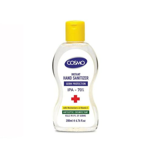 Cosmo Antibacterial Hand Sanitiser Gel 200ml