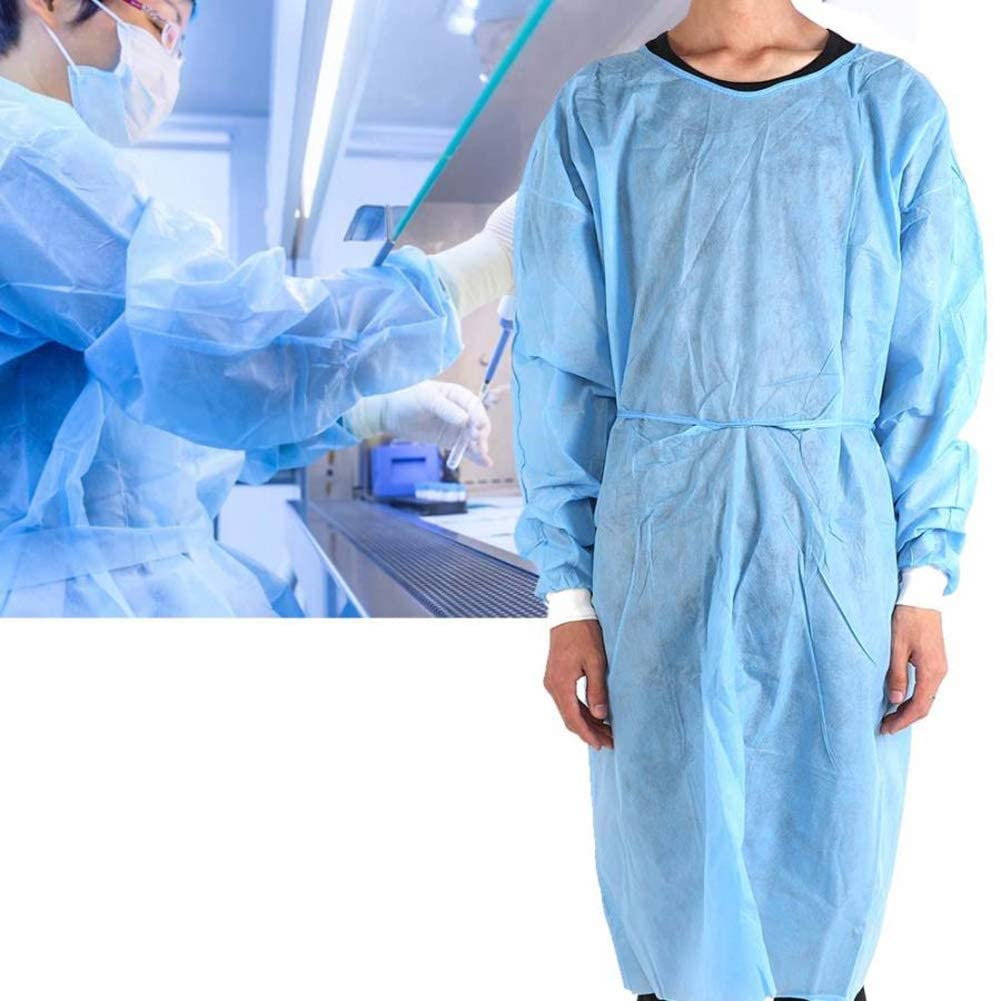 Medical Uniforms Disposable Surgical Isolation Gown Waterproof Anti-Rust Medical Operating Clothing Workwear Scrubs Medical pack of 10