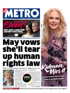 May Vows she'll year up your human rights