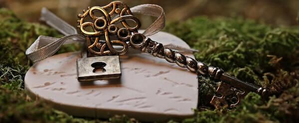 locket on grass