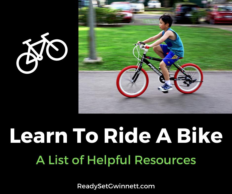 Learn to ride a bike