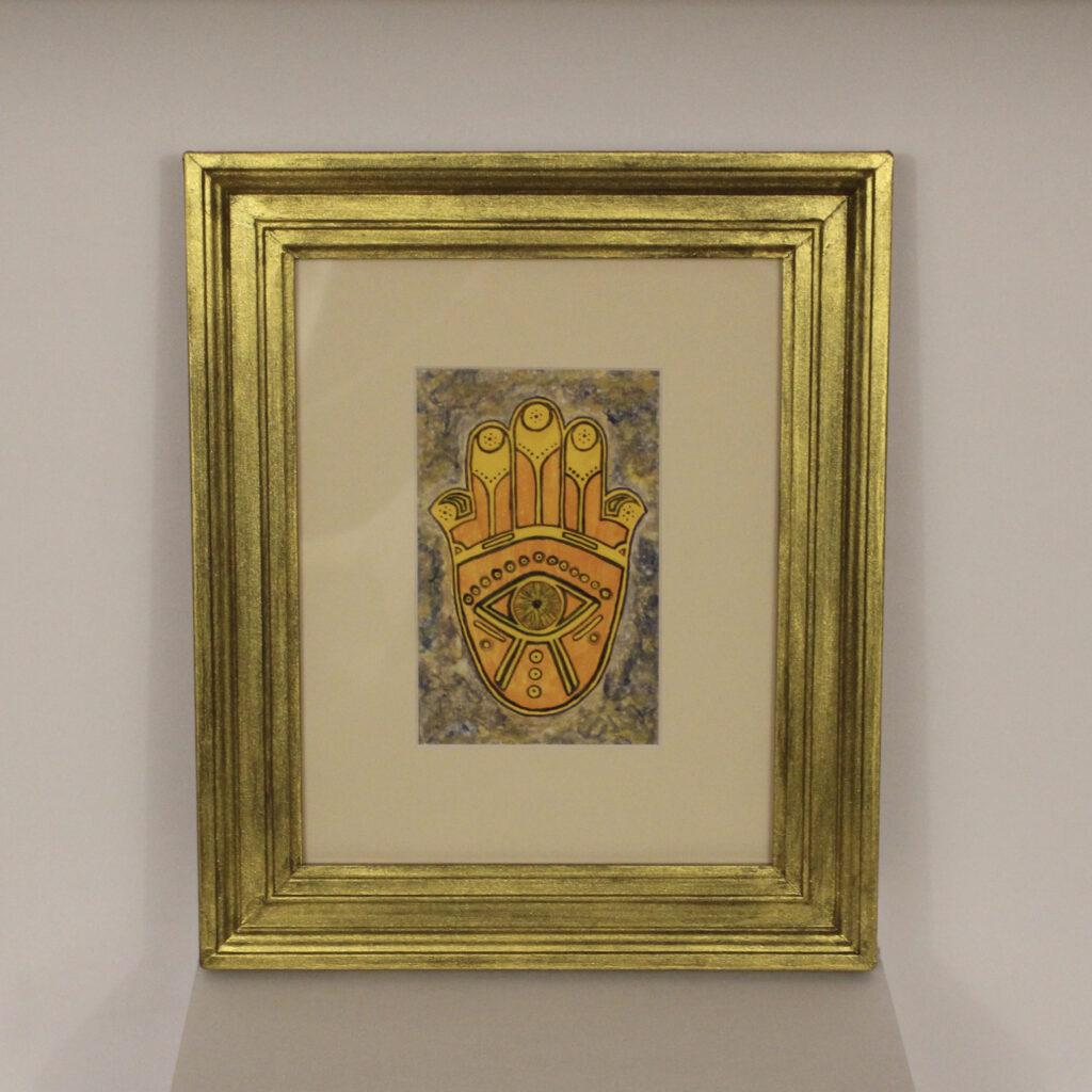 New Age Art, Hamsa, Hand of God, Hand of Protection, Fine Art
