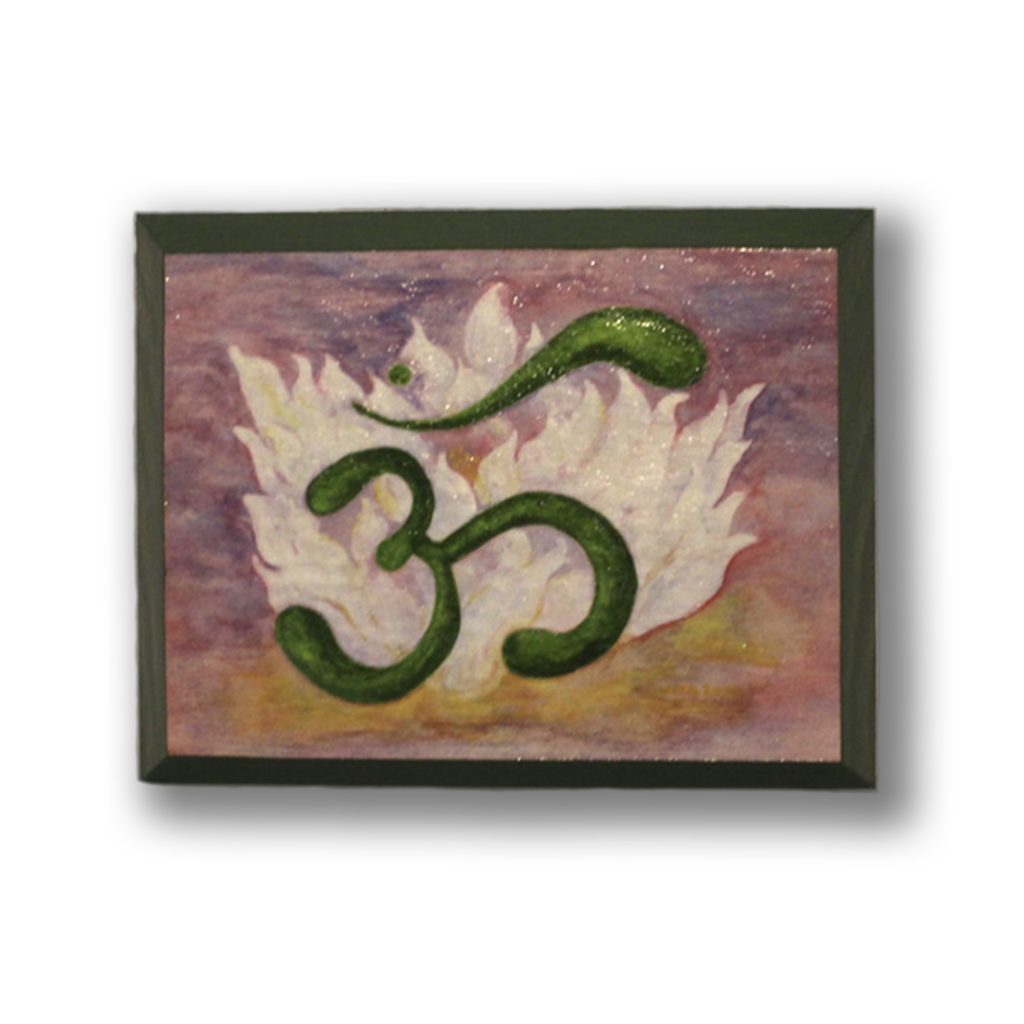 OM In Lotus Hanging Art