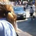 English Tourist drives Mercedes down the fondamenta