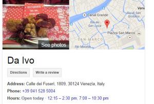 DaIvo, Restaurante Venice Italy