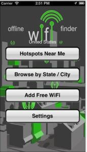 Check to see if there's wifi around