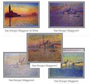 Claude Monet Paintings San Giorgio Maggiore Venice Italy