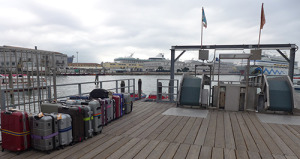 Baggage Waiting to go to Ships - Note the automatic equipment