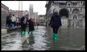 San Marco Square, Venice Italy High Water