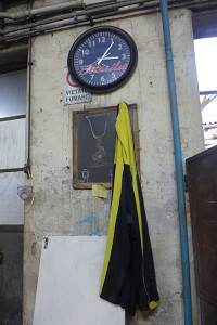 clock stopped at closed Murano Glass Furnace