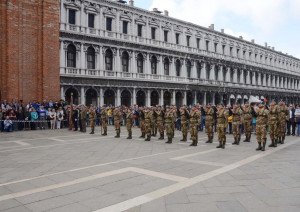 Celebrating the 70th Anniversary of the Liberation of Italy, Parade in San Marco Square