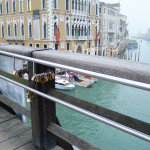 Love Locks Venice Italy on L'Accademia Bridge
