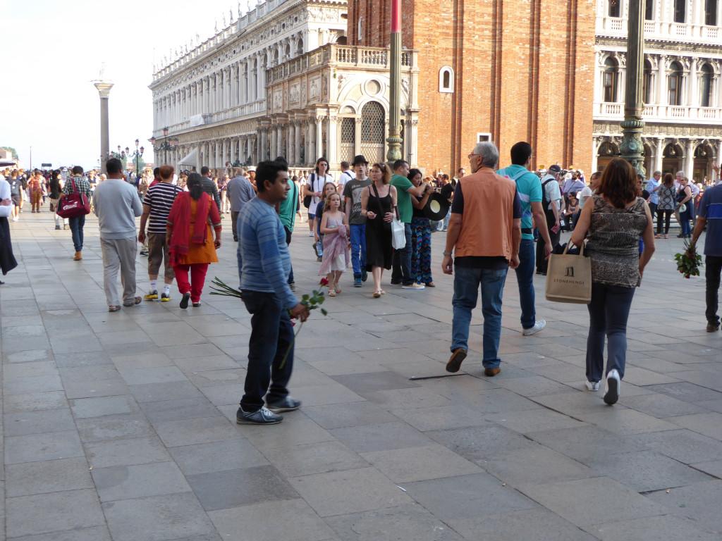 Illegal Rose Vendor San Marco Square