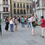 Selfie Seller and Rose Seller San Marco