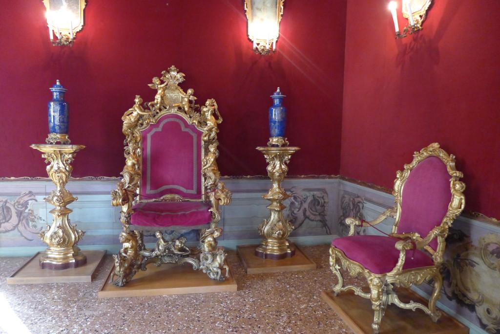 Ca'Rezzonico, Throne Room,