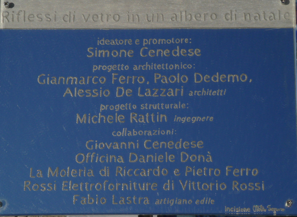 Credits to all who Worked on the Tree in Murano