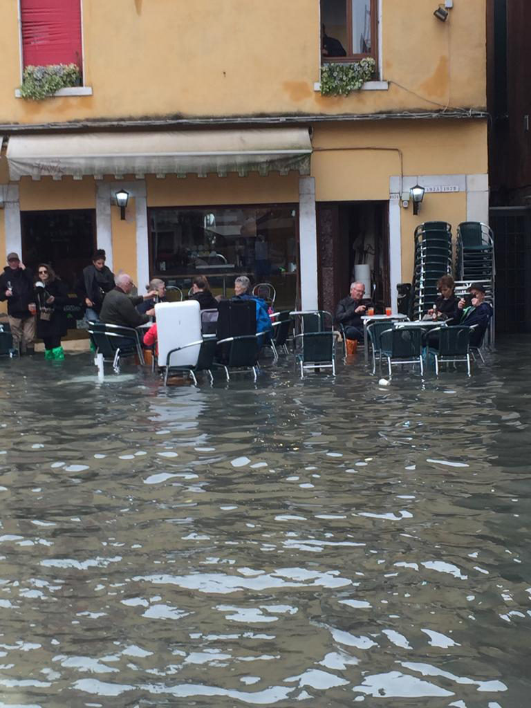 Resilient Venetians still need their coffee