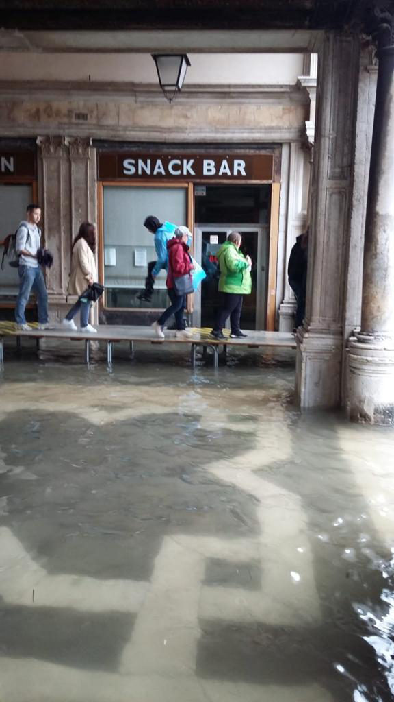 San Marco Square Walk Way for High Water