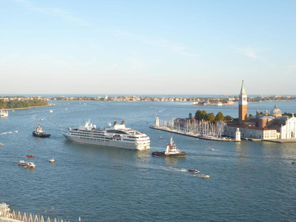 Cruise Ship Departing Venice