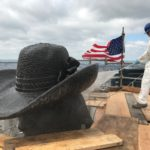 William Penn's hat is pressure washed