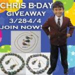 Chris Birthday Giveaway