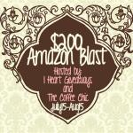Blogger Sign Up : $200 Amazon Blast