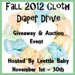 Blogger Sign Up : Leettle Hands and Feet Fall 2012 Cloth Diaper Drive