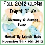 Enter : Fall 2012 Cloth Diaper Drive Event