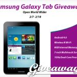 Enter : Samsung Galaxy Tab Giveaway