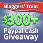 Free Blogger Event : $300 Paypal Cash Giveaway