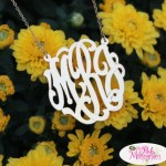 Enter : Pink Monogram Necklace Giveaway