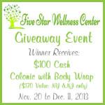 Enter : Five Star Wellness Centers $100 Cash Giveaway