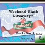 Enter : $50 Applebees Gift Card Flash Giveaway