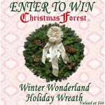 Enter : Christmas Forest Winter Wonderland Wreath Giveaway