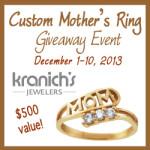 Enter : Custom Mother's Ring ($500 Value) Giveaway